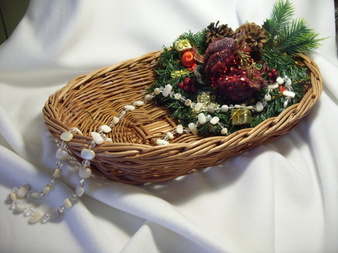Приглашаем на мастер-класс по плетению новогодней корзины