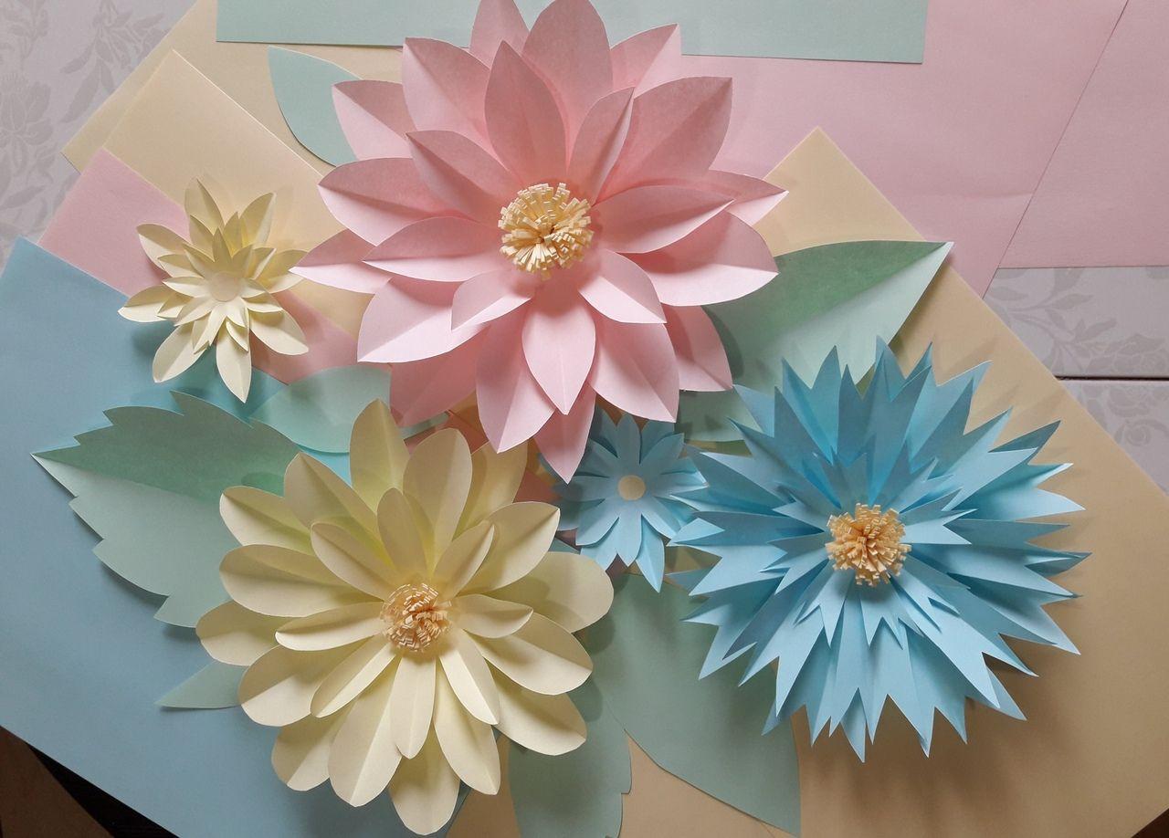 Виртуальный мастер-класс «Весенние цветы из бумаги»