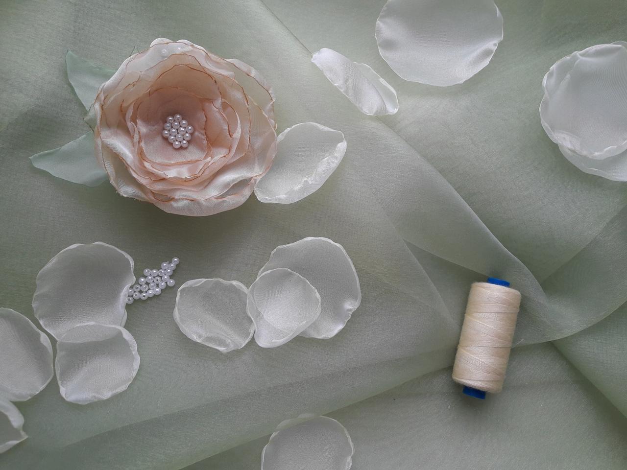 Видеозапись мастер-класса «Цветы из шифона и органзы»