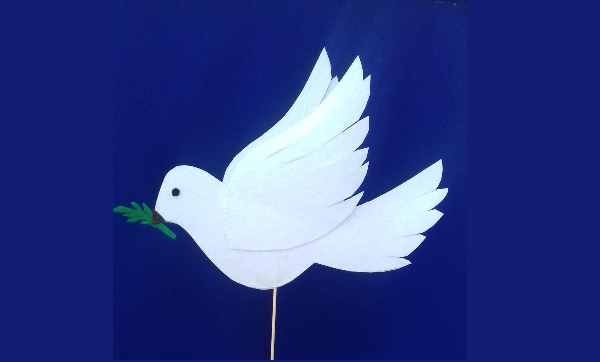 Видеозапись мастер-класса «Голубь мира из фетра»