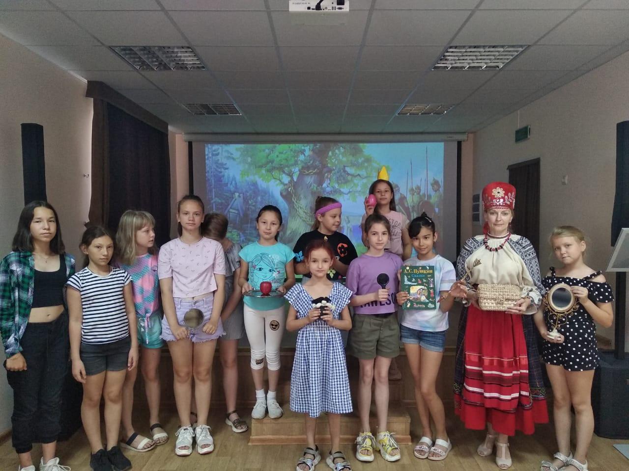 В Летней школе маленьких мастеров познакомились с произведениями Александра Пушкина