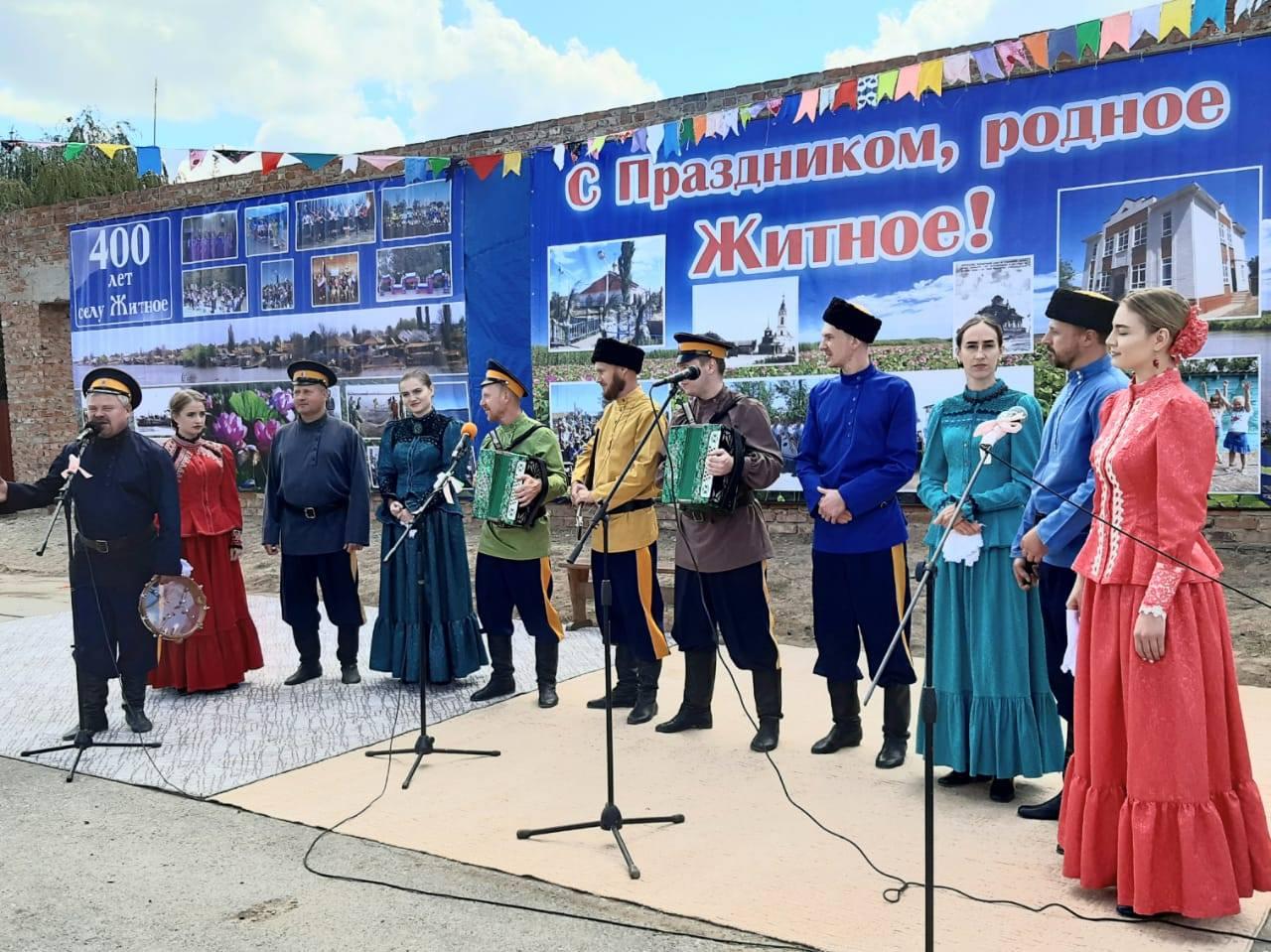Ансамбль традиционной песни астраханских казаков принял участие в праздновании юбилея села Житное