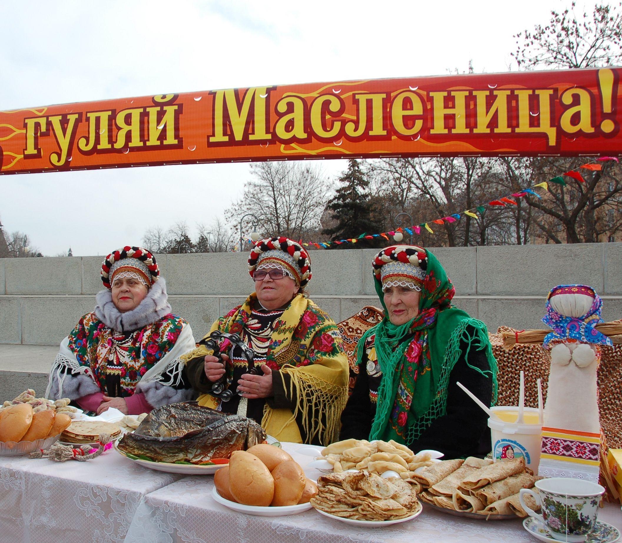 В районах Астраханской области начали отмечать Широкую Масленицу