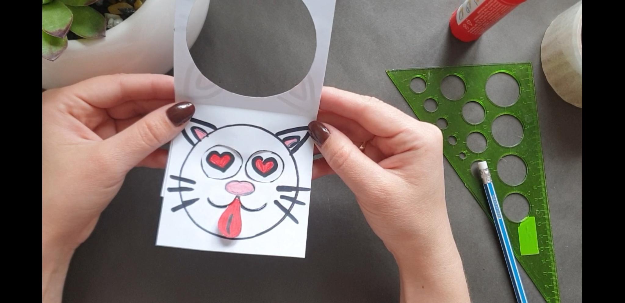 Видеозапись мастер-класса «Смеющийся котик»