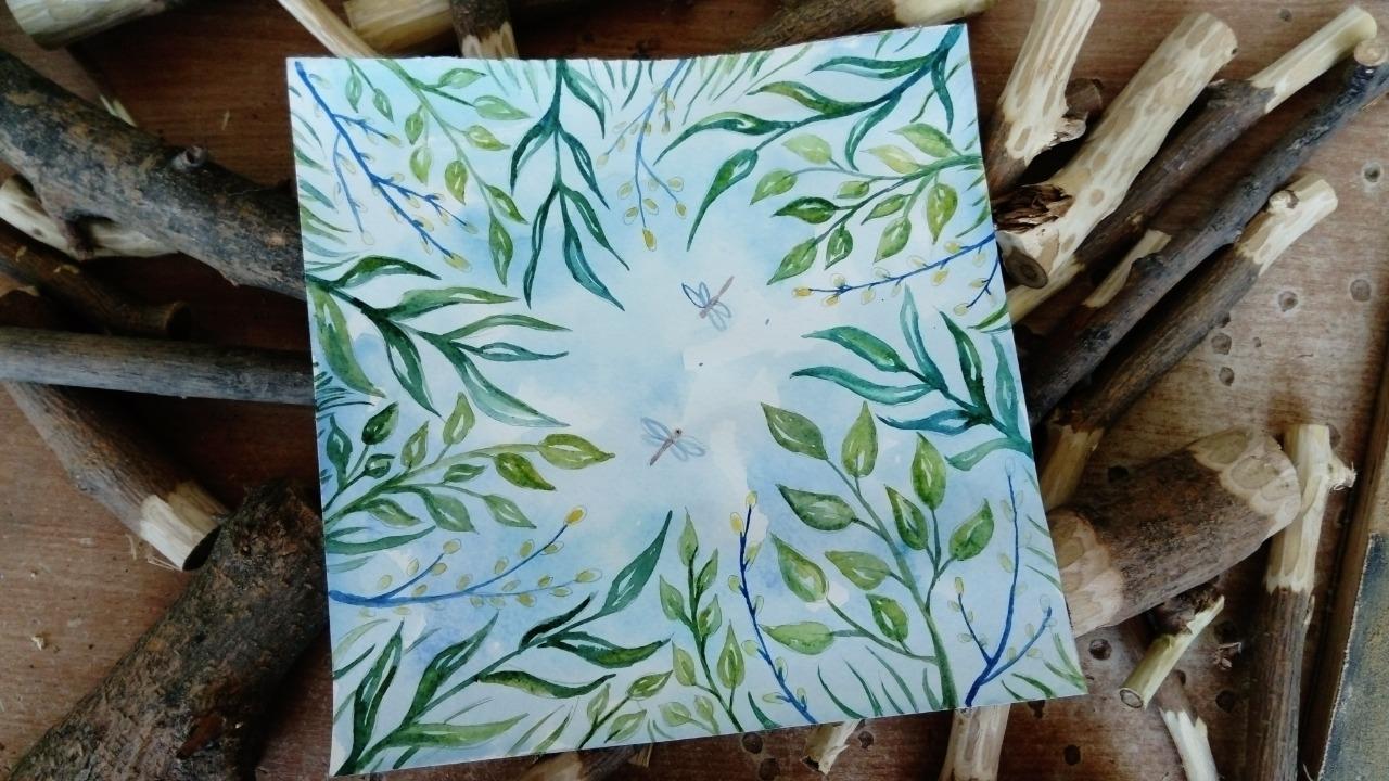 Видеозапись мастер-класса «Под сенью зеленой листвы»